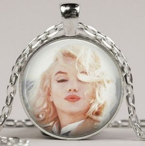 Marilyn Monroe Kisses Pendant Necklace